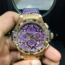 Hublot Big Bang 41MM Rose Gold Purple Dial Python Boa Purple