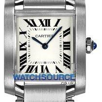 Cartier Tank Française Steel 25mm Silver Roman numerals
