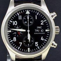 IWC Pilot Chronograph Staal 42mm Zwart Arabisch