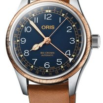 Oris new Automatic Center Seconds Luminescent Numerals Luminescent Hands Screw-Down Crown Luminous indexes 36mm Steel Sapphire Glass