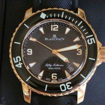 Blancpain Fifty Fathoms Roségoud 45mm Zwart Arabisch