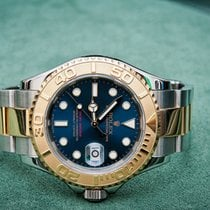 Rolex Yacht-Master 40 Ouro/Aço 40mm Azul Sem números