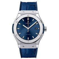 Hublot Classic Fusion Blue Titanium 42mm Blue No numerals