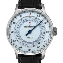 Meistersinger Adhaesio Steel 43mm White United States of America, New Jersey, Cresskill