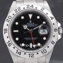 Rolex Explorer II Steel 40mm Black No numerals United Kingdom, London, Paris, Barcelona & Brussels face to face delivery only - Other countries shipping with Brinks and DHL Express