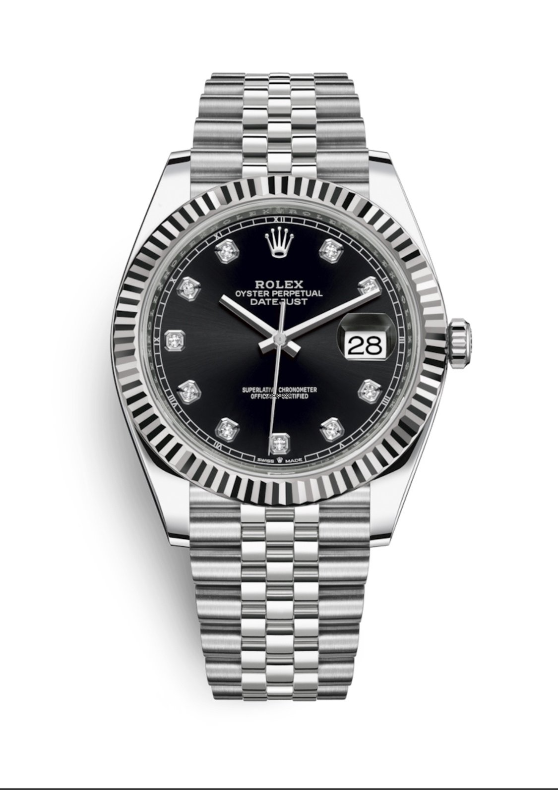 Rolex Datejust 41mm 2019 NEW Black Diamond Dial