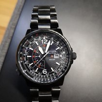Citizen Promaster pre-owned 45mm Black Date GMT Steel