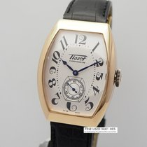 Tissot Yellow gold Manual winding Silver 31mm pre-owned Heritage