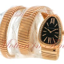Bulgari Serpenti Rose gold 35mm Black Roman numerals