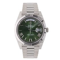 Rolex DAY-DATE 40mm White Gold President 60th Anniversary 228239