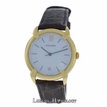 Chaumet Authentic Ladies 18K Yellow Gold MOP Quartz Date 32mm
