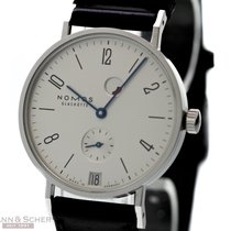 Nomos Tangente Date Power Reserve Ref-131 Stainless Steel Box...