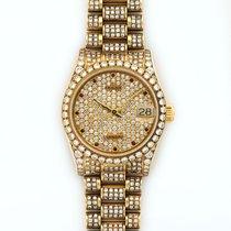 Rolex Datejust 18K Solid Yellow Gold Automatic Diamonds
