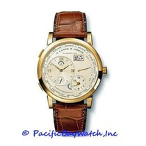 A. Lange & Söhne Yellow gold Manual winding Champagne Roman numerals 42mm pre-owned Lange 1