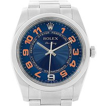 Rolex Air King Blue Concentric Dial Arabic Numerals Watch 114200