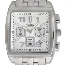 Condor Classic Chronograph Stainless Steel Mens Watch Date...