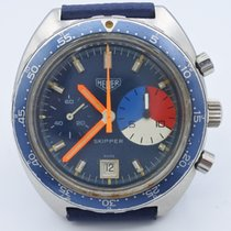 Heuer chronograph vintage Skipper ref 73463 yachting  valjoux