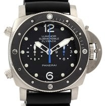 Panerai Luminor Submersible 1950 3 Days Automatic pre-owned 47mm Black Chronograph Rubber