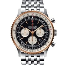 Breitling Navitimer 01 (46 MM) Gold/Steel 46mm Black No numerals United States of America, New York, New York