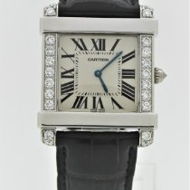 Cartier Tank (submodel) Platinum White Roman numerals United States of America, Florida, Key Biscayne