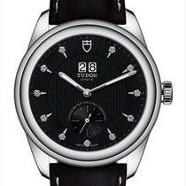 Tudor Glamour Double Date Steel 42mm Black