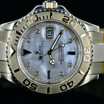 Rolex Yellow gold Automatic Mother of pearl No numerals 40mm pre-owned Yacht-Master
