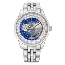 Jaeger-LeCoultre Geophysic Universal Time pre-owned 41.6mm Blue GMT Steel