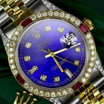 Rolex Lady-Datejust Золото/Cталь 31mm Синий