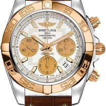 Breitling Uhr neu Gold/Stahl Automatik Uhr mit Original-Box und Original-Papieren