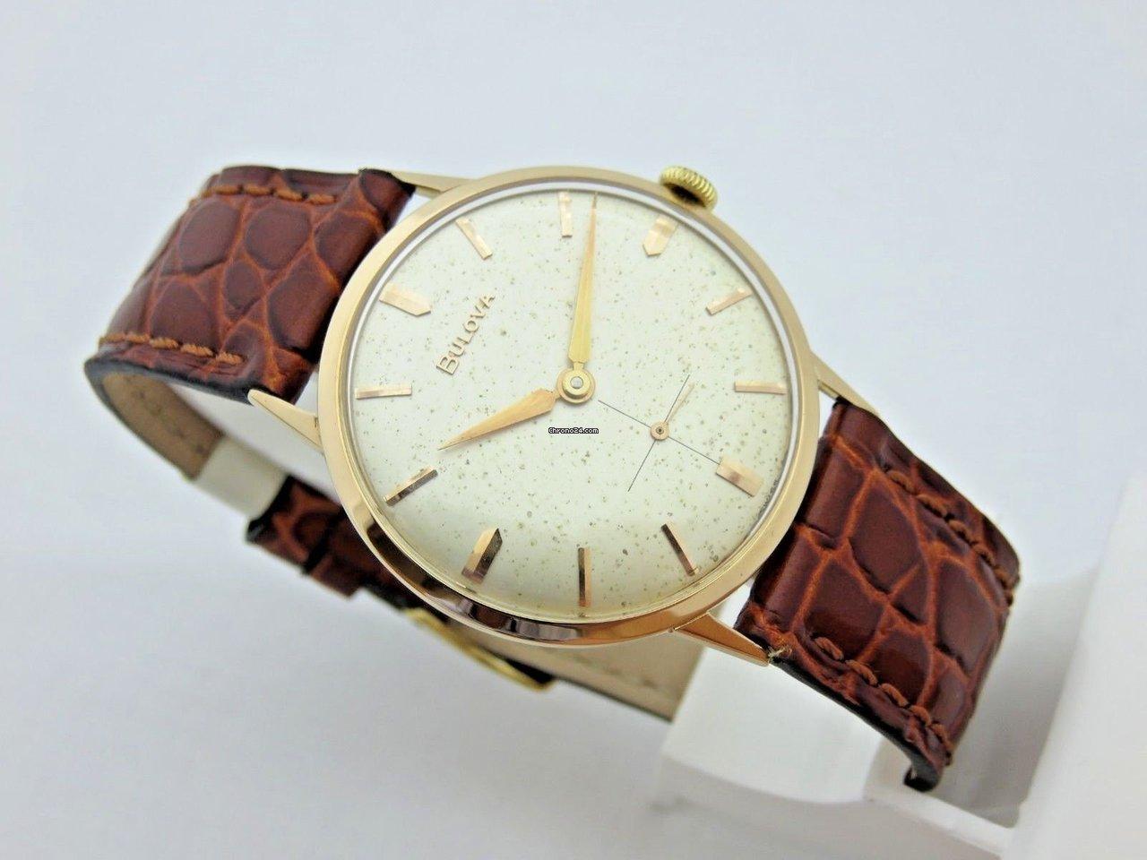 lusso cerca il meglio vendita di liquidazione Bulova 18 kt rose gold man watch 33,5mm manual winding serviced