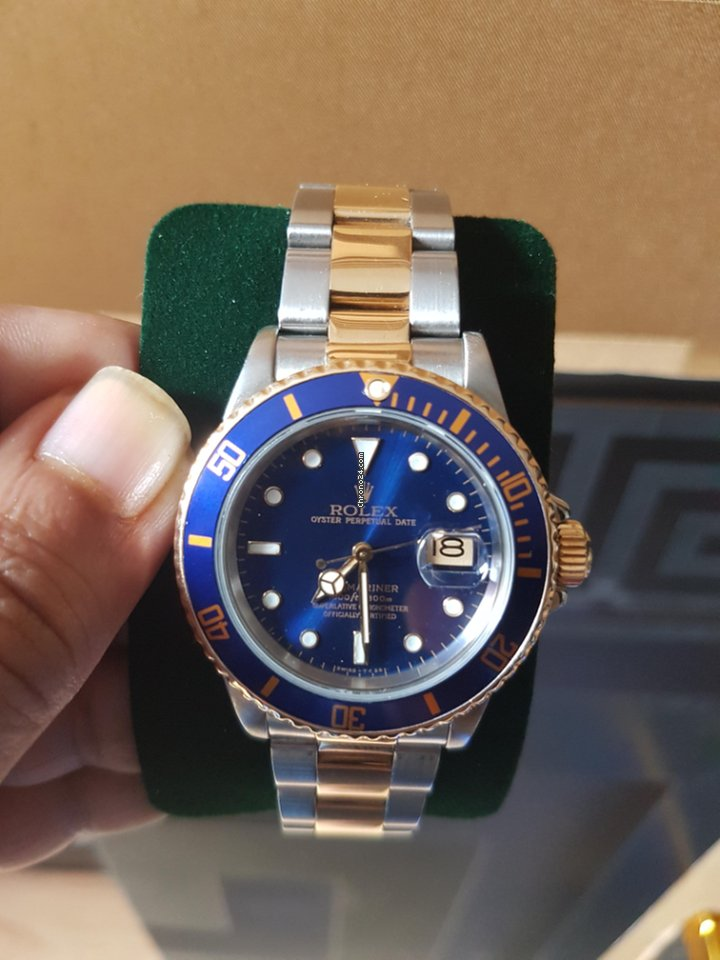 Rolex Submariner Date two tone bluezy Submariner 16803