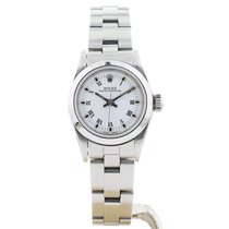 Rolex Oyster Perpetual 26 Acero 24mm Blanco Romanos