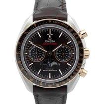 Omega Speedmaster Professional Moonwatch Moonphase Acero y oro 44.2mm Marrón