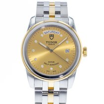 Tudor Glamour Date-Day pre-owned 39mm Champagne Date Gold/Steel