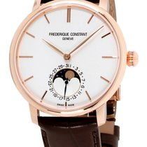 Frederique Constant Manufacture Slimline Moonphase Goud/Staal 42mm Zilver