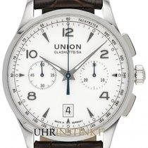 Union Glashütte Noramis Chronograph Stal 42mm Srebrny