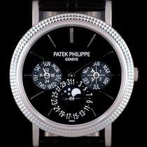 Patek Philippe Perpetual Calendar Weißgold 38mm Schwarz