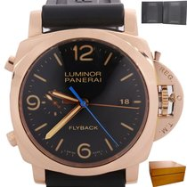 Panerai Luminor 1950 3 Days Chrono Flyback pre-owned 44mm Black Flyback Rubber