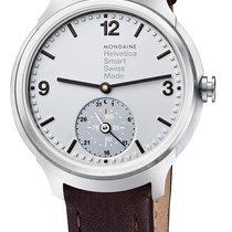 Mondaine UNISEX Quartz 44mm Helvetica 1 Smartwatch MH1.B2S80.LG