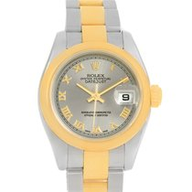 Rolex Datejust Ladies Steel 18k Yellow Gold Roman Dial Watch...