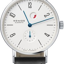 NOMOS Tangente Gangreserve Steel 35mm White United States of America, New York, Airmont