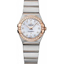 Omega CONSTELLATION MOTHER OF PEARL DIAMOND DIAL BRUSHED STEEL