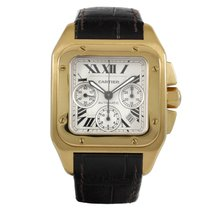 Cartier Santos 100 tweedehands 41mm Geelgoud