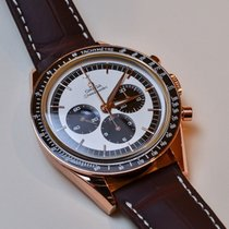 Omega SPEEDMASTER MOONWATCH Limited Ed. Brown Strap,Pink Gold...