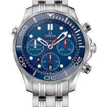 Omega Seamaster Diver 300 M new 2019 Automatic Chronograph Watch with original box and original papers 212.30.42.50.03.001
