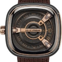 Sevenfriday M2-2 Steel 47mm Brown Arabic numerals