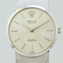 Rolex Cellini Белое золото 24mm Cерый Без цифр