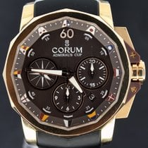 Corum Admiral's Cup Chronograph 44mm, pink gold brown dial.