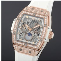 Hublot Spirit Of Big Bang Moonphase King Gold White Pavé