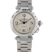 Cartier Pasha 2377 GMT Stainless Steel Mens Watch